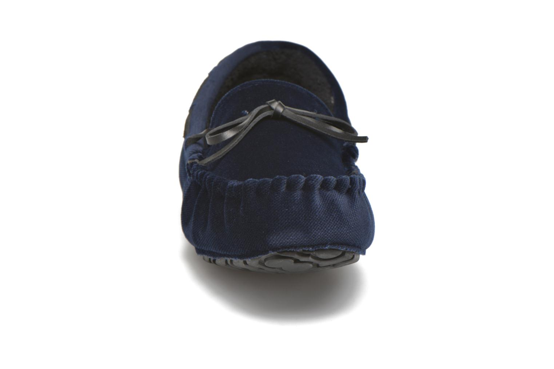 Chaussons Ruby Brown John Bleu vue portées chaussures