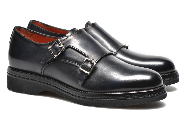 Chaussures à lacets Santoni Urban Hill 54271 Bleu vue 3/4