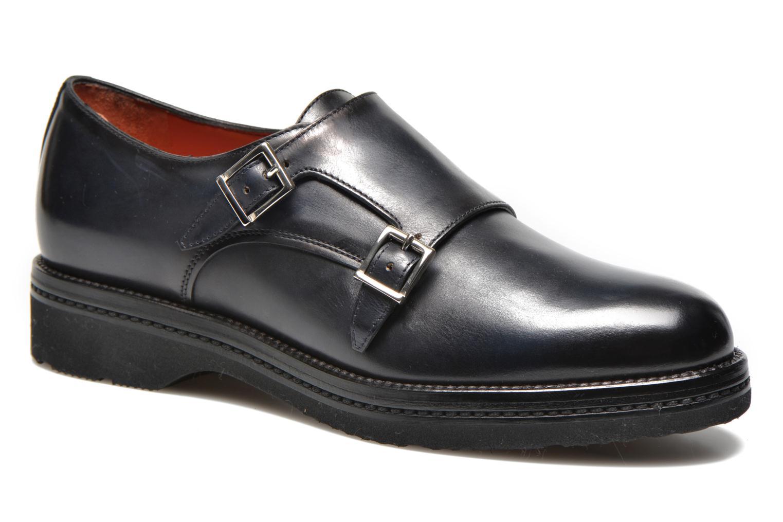 Snøresko Santoni Urban Hill 54271 Blå detaljeret billede af skoene