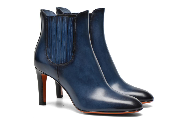 Bottines et boots Santoni Moss 54079 Bleu vue 3/4