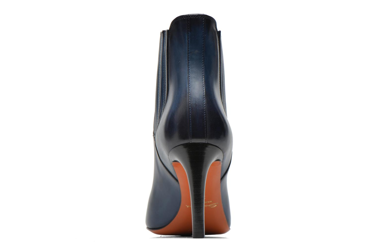 Ankle boots Santoni Moss 54079 Blue view from the right