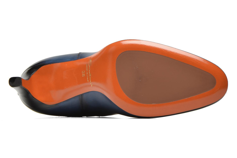 Bottines et boots Santoni Moss 54079 Bleu vue haut