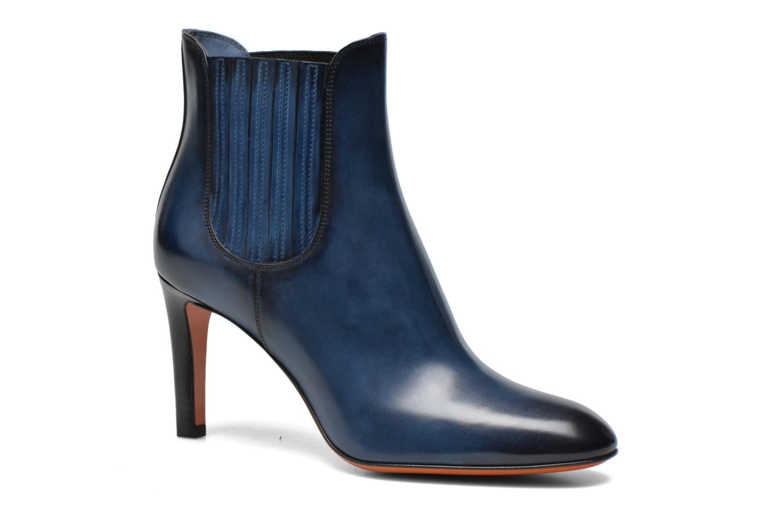 Ankle boots Santoni Moss 54079 Blue detailed view/ Pair view