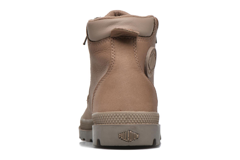 Bottines et boots Palladium Hi Cuff Wp K Marron vue droite