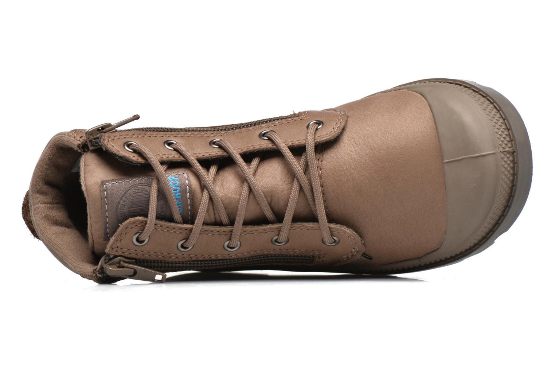 Bottines et boots Palladium Hi Cuff Wp K Marron vue gauche