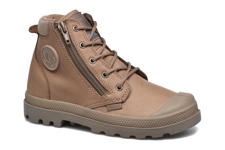 Bottines et boots Palladium Hi Cuff Wp K Marron vue détail/paire