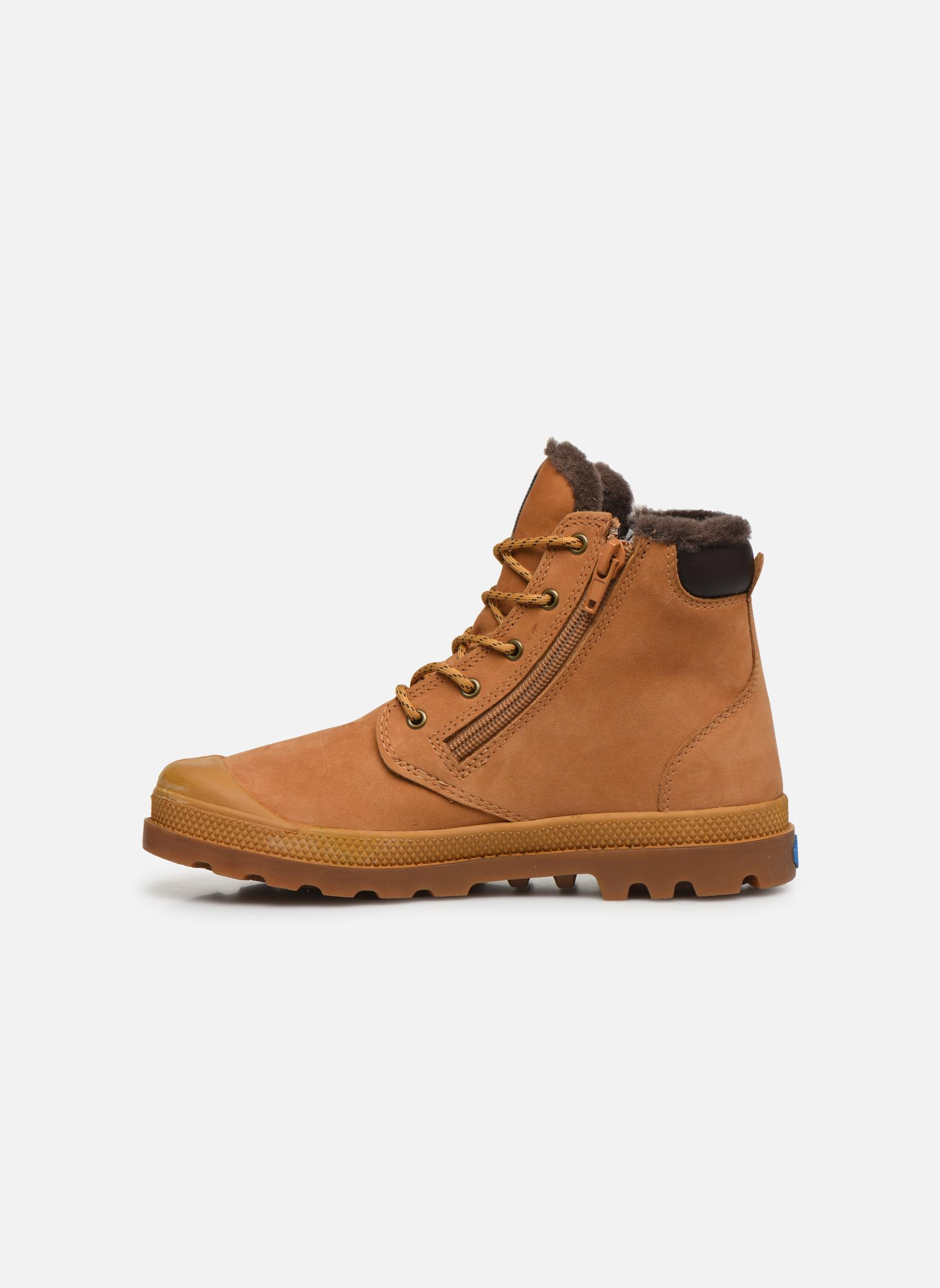 Boots en enkellaarsjes Palladium Hi Cuff Wps K Beige voorkant