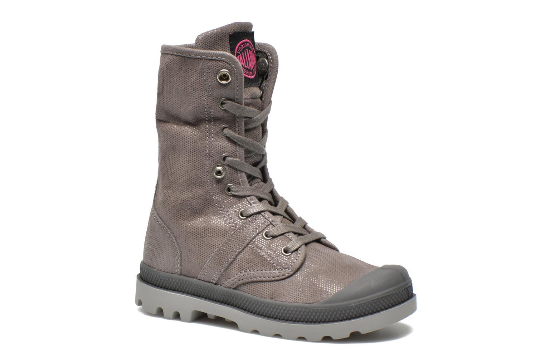 Bottines et boots Palladium Baggy Fl K Gris vue 3/4
