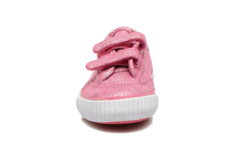 Baskets Feiyue Fe Lo Glitter Easy Rose vue portées chaussures