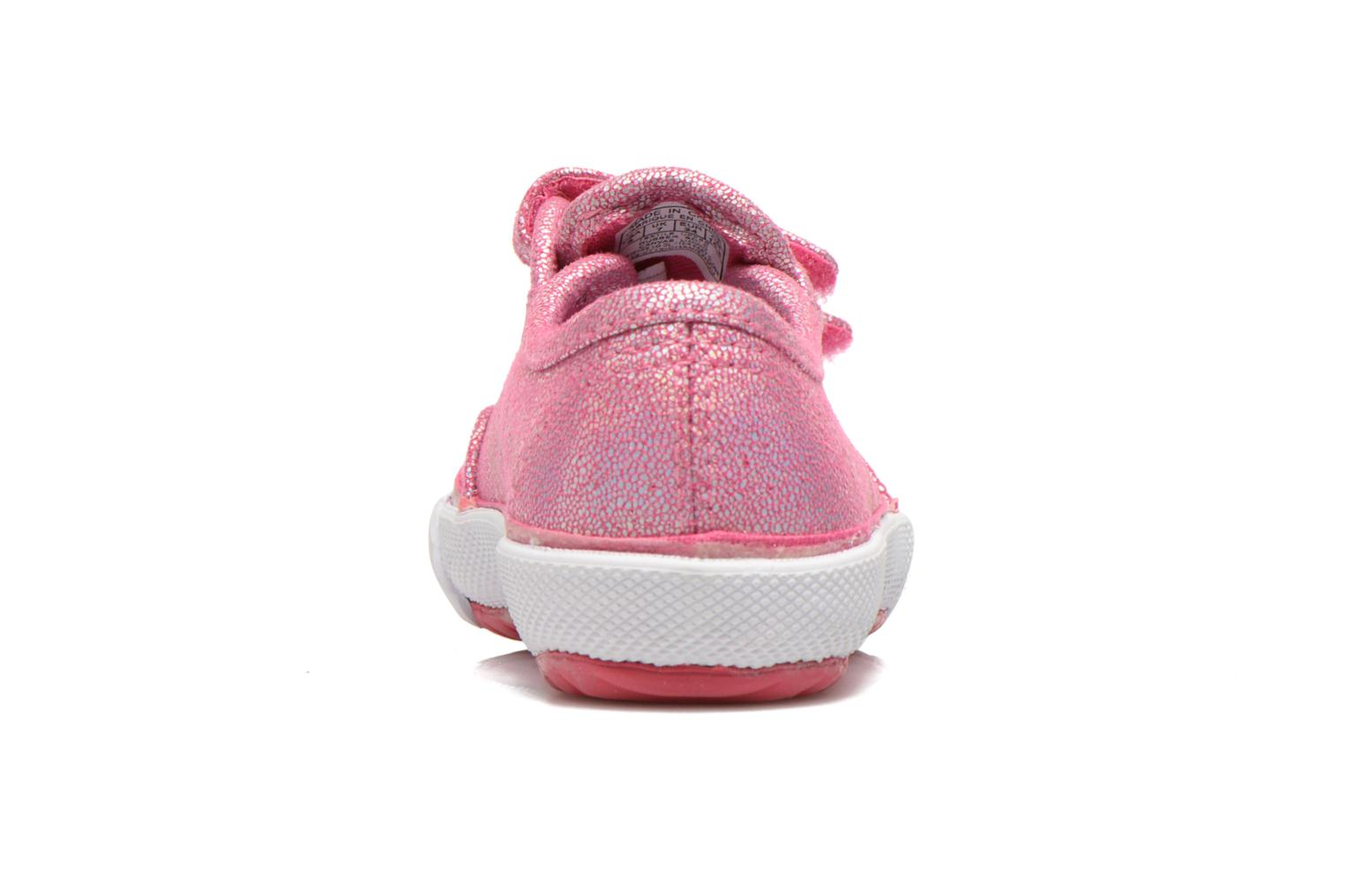 Trainers Feiyue Fe Lo Glitter Easy Pink view from the right
