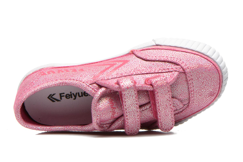 Baskets Feiyue Fe Lo Glitter Easy Rose vue gauche