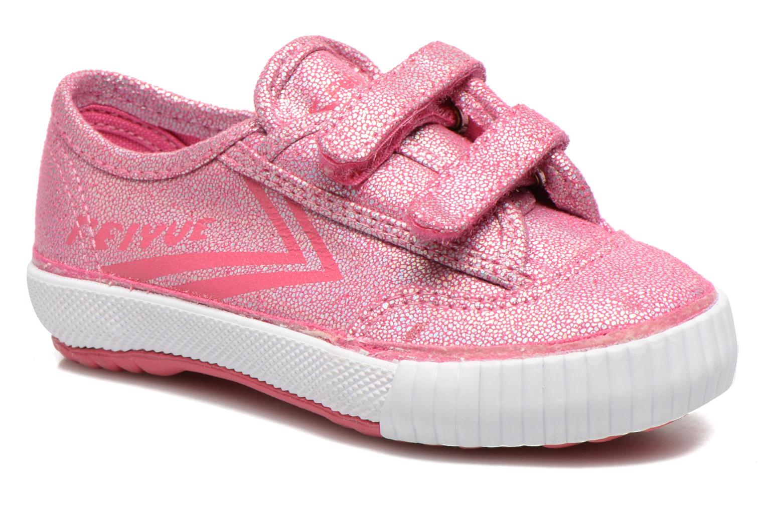 Trainers Feiyue Fe Lo Glitter Easy Pink detailed view/ Pair view