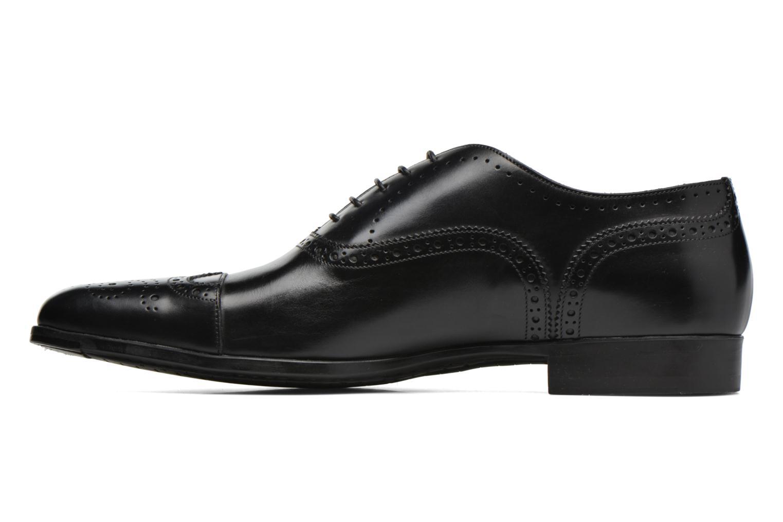 Snörade skor Santoni William 14431 Svart bild från framsidan