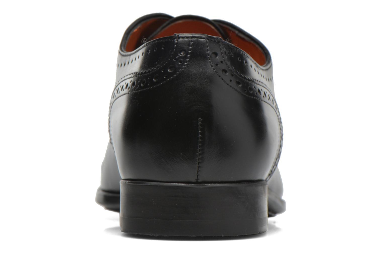 Zapatos con cordones Santoni William 14431 Negro vista lateral derecha