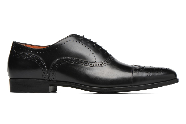 Zapatos con cordones Santoni William 14431 Negro vistra trasera