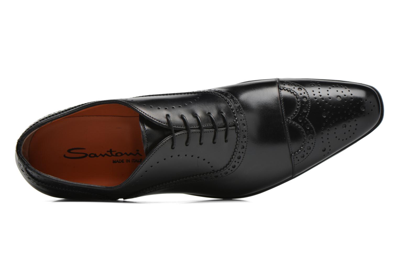 Scarpe con lacci Santoni William 14431 Nero immagine sinistra