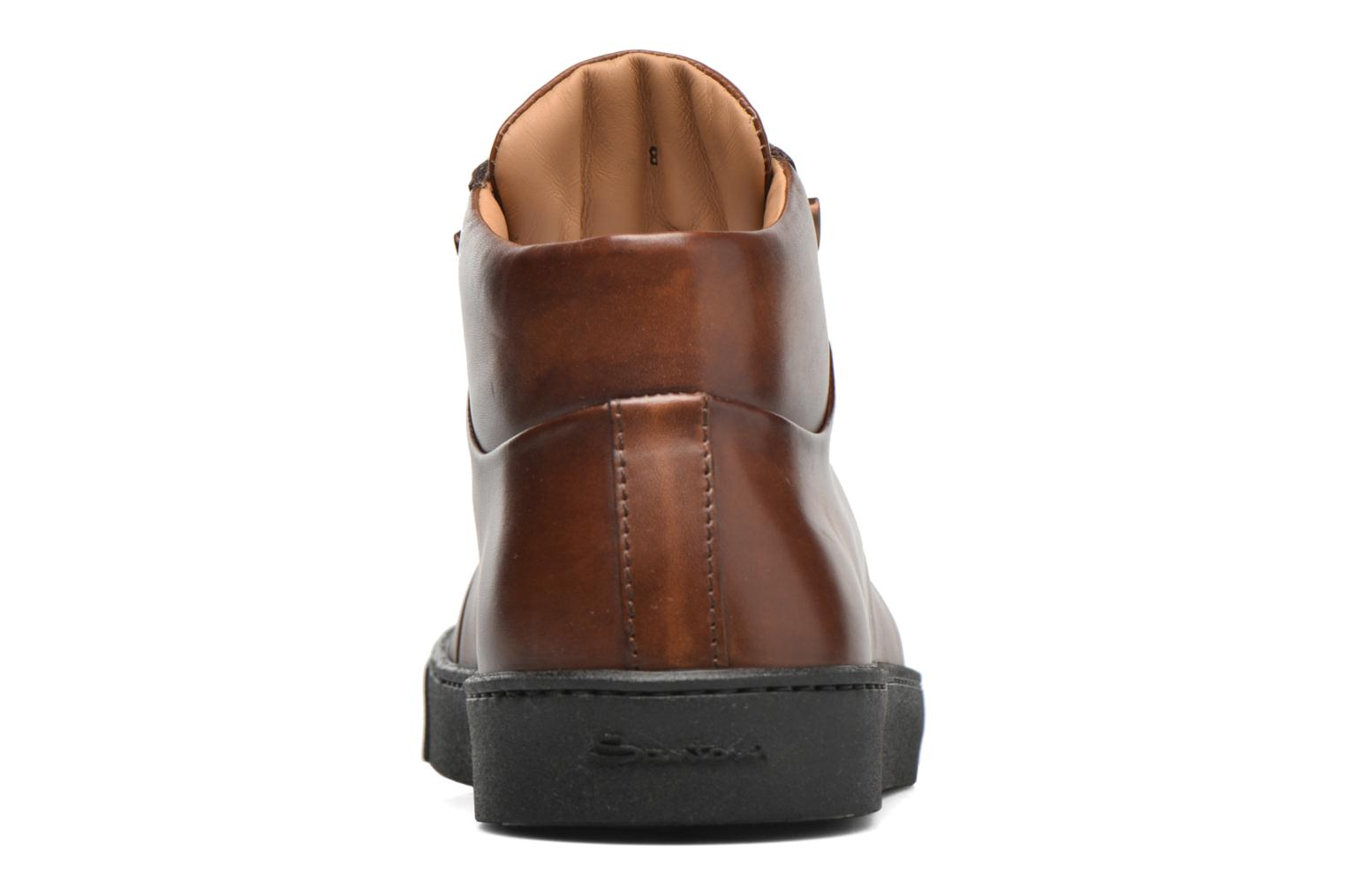 Trainers Santoni Gloria 14357 Brown view from the right