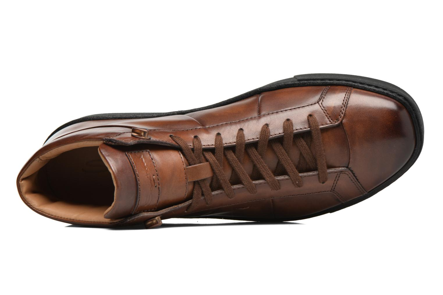Trainers Santoni Gloria 14357 Brown view from the left