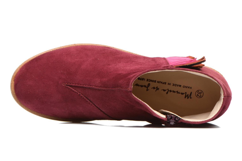 Bottines et boots Manuela de Juan Ingrid Bordeaux vue gauche