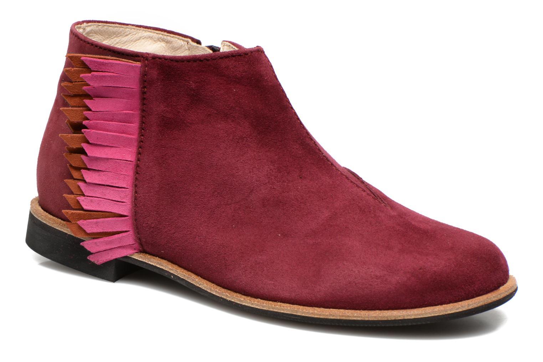 Bottines et boots Manuela de Juan Ingrid Bordeaux vue détail/paire