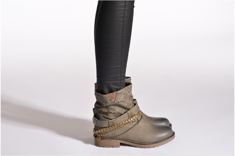 Bottines et boots Coolway Lasser Noir vue bas / vue portée sac