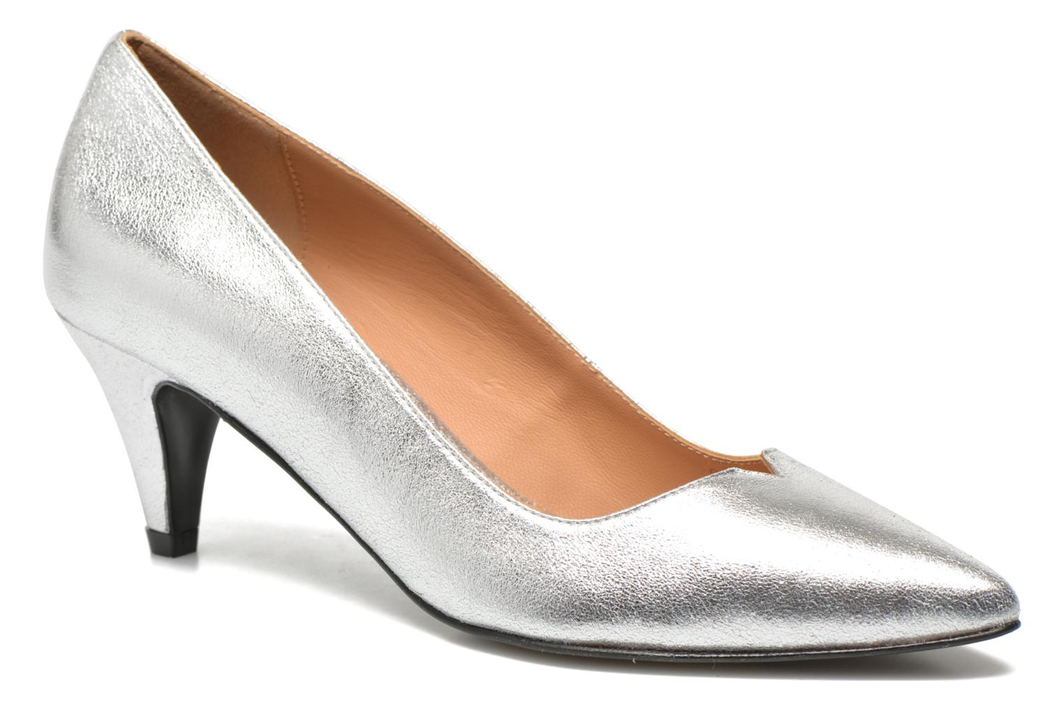 High heels Made by SARENZA Donut hut #4 Silver front view
