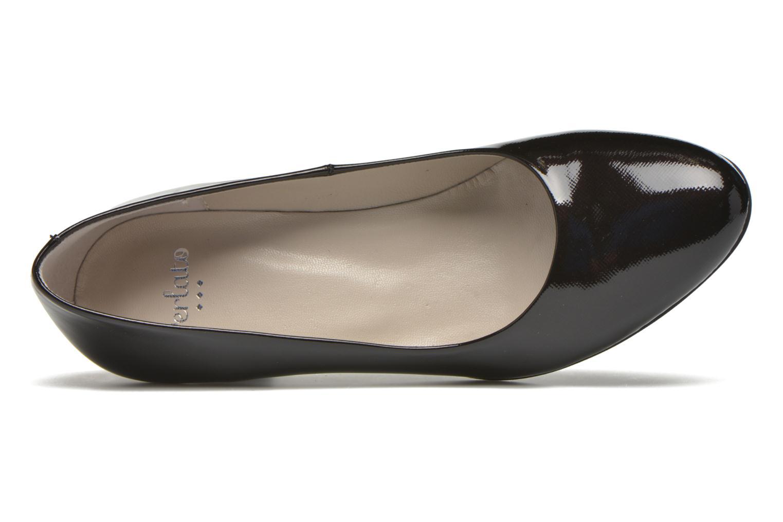 Zapatos de tacón Perlato Papof Negro vista lateral izquierda