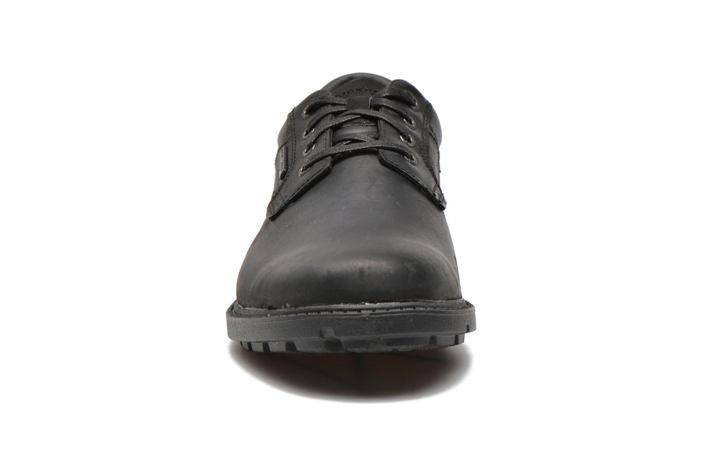 Schnürschuhe Rockport RGD BUC WP Plaintoe schwarz schuhe getragen