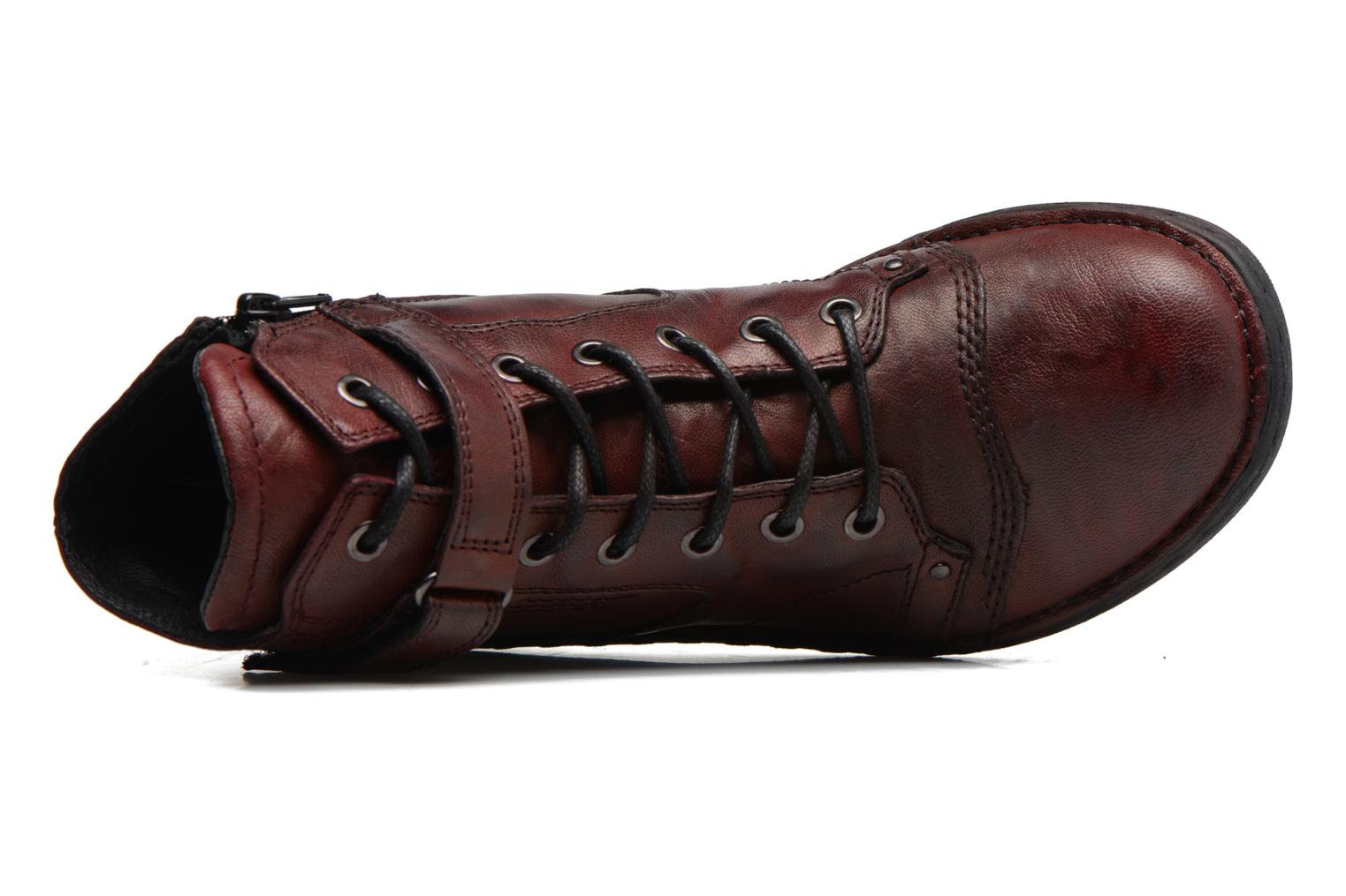 Ankle boots Khrio Rehayen Burgundy view from the left