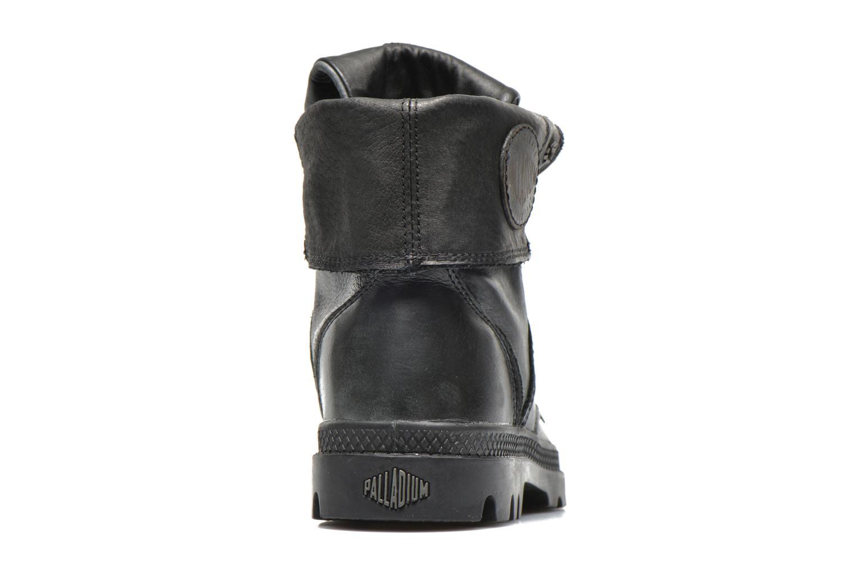 Sneaker Palladium Pallabrousse Baggy L2 U W schwarz ansicht von rechts