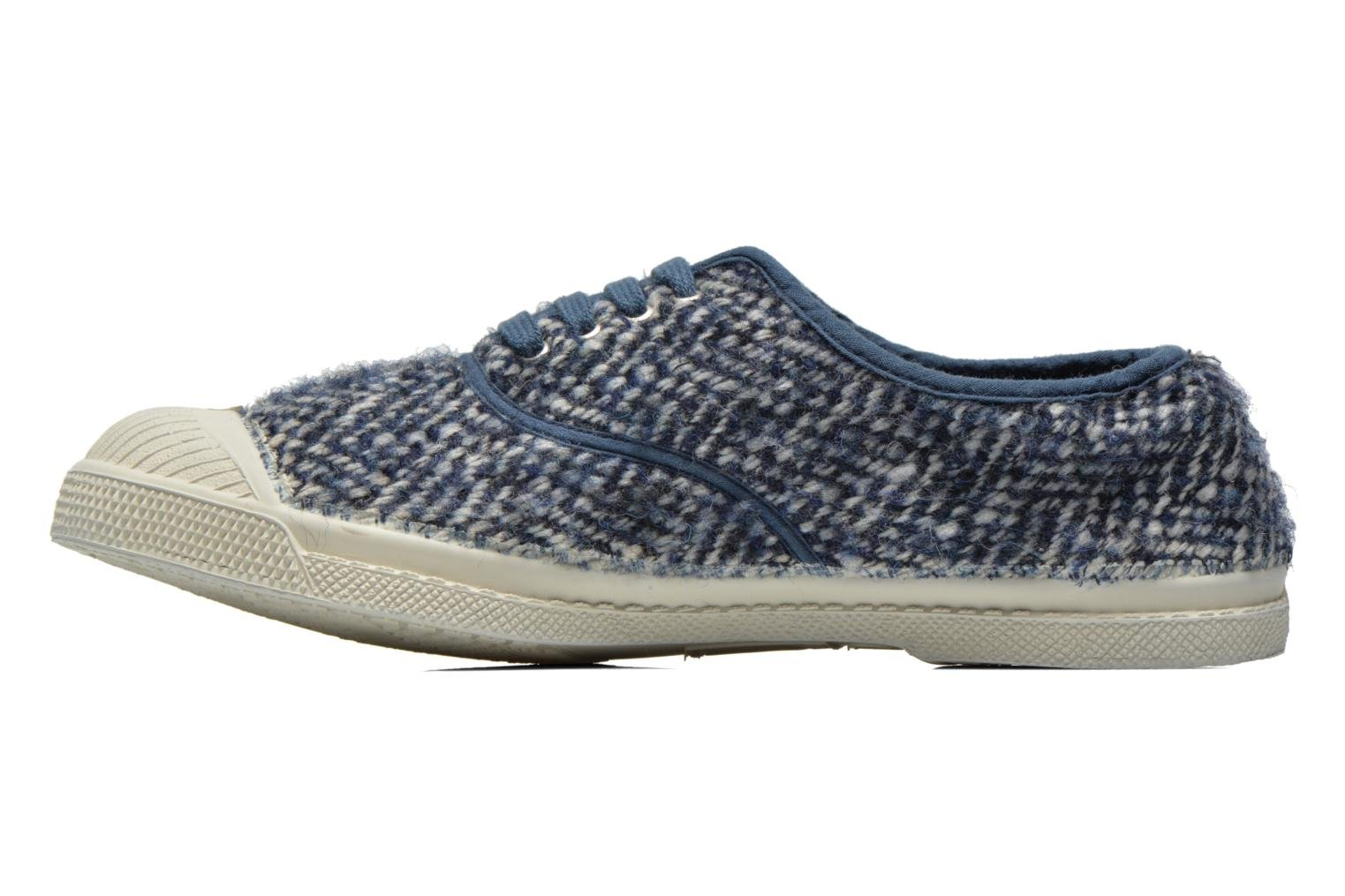 Trainers Bensimon Tennis Lacets Girly Tweed Blue front view