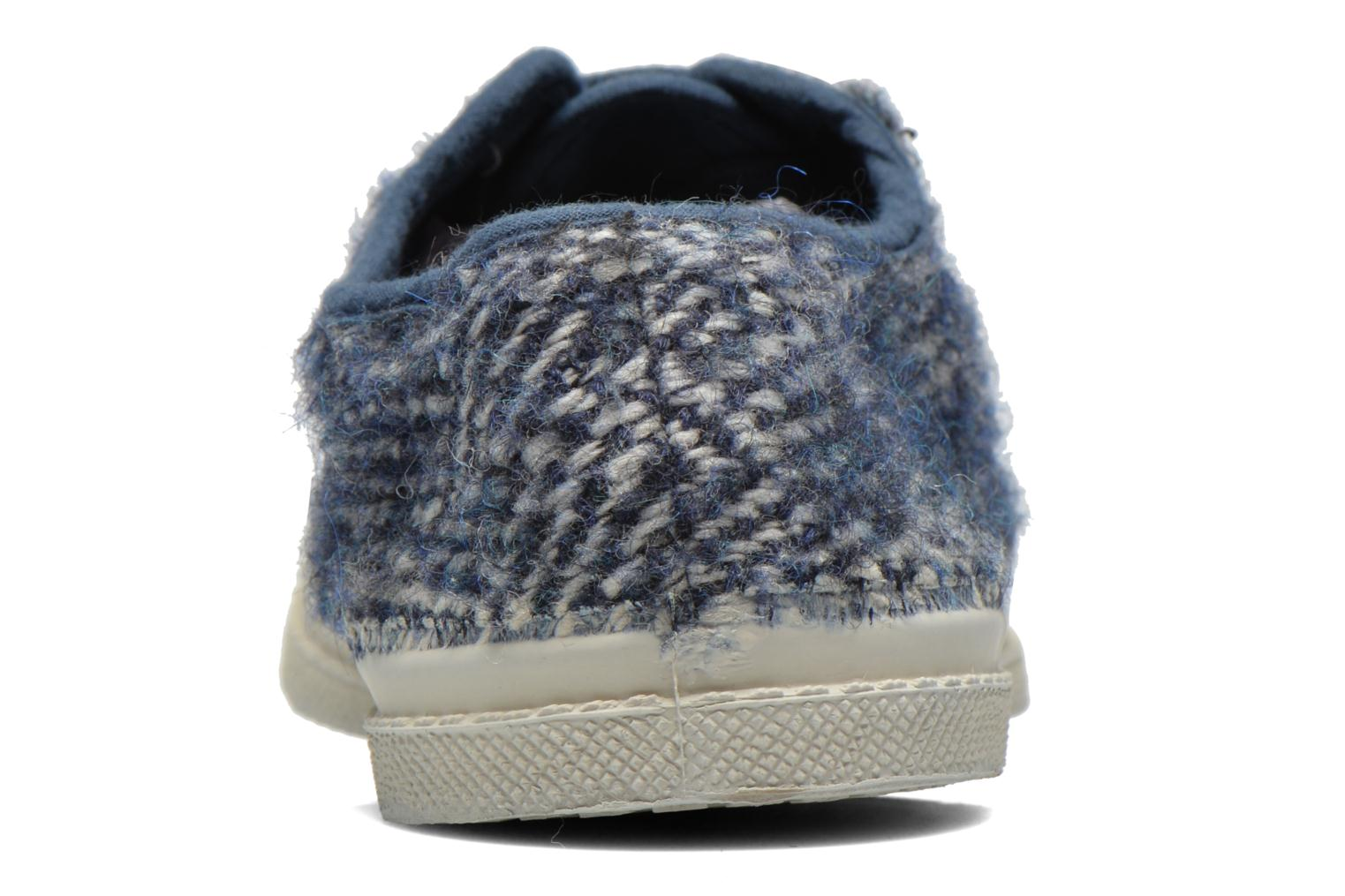 Trainers Bensimon Tennis Lacets Girly Tweed Blue view from the right