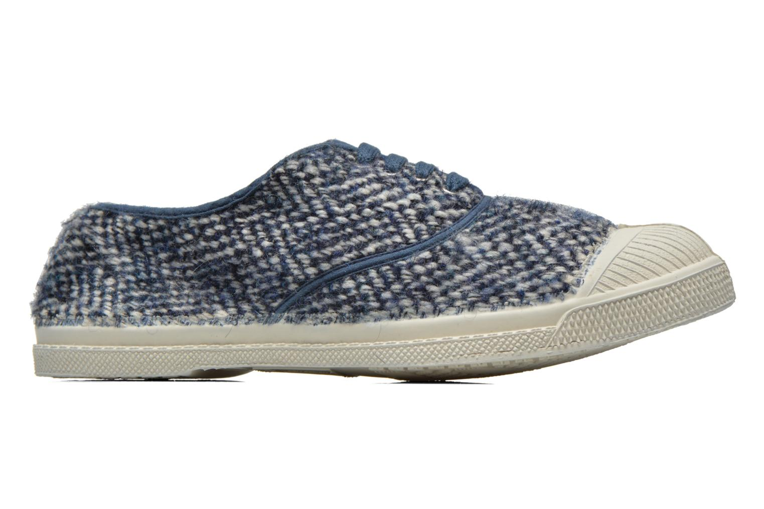 Trainers Bensimon Tennis Lacets Girly Tweed Blue back view