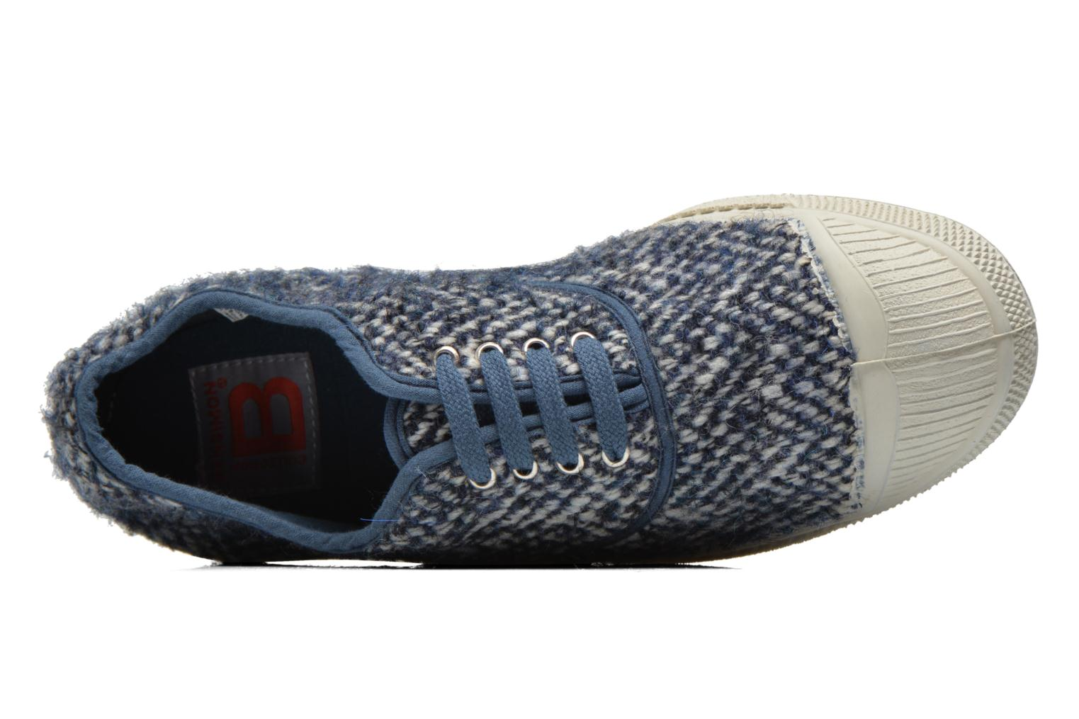 Trainers Bensimon Tennis Lacets Girly Tweed Blue view from the left