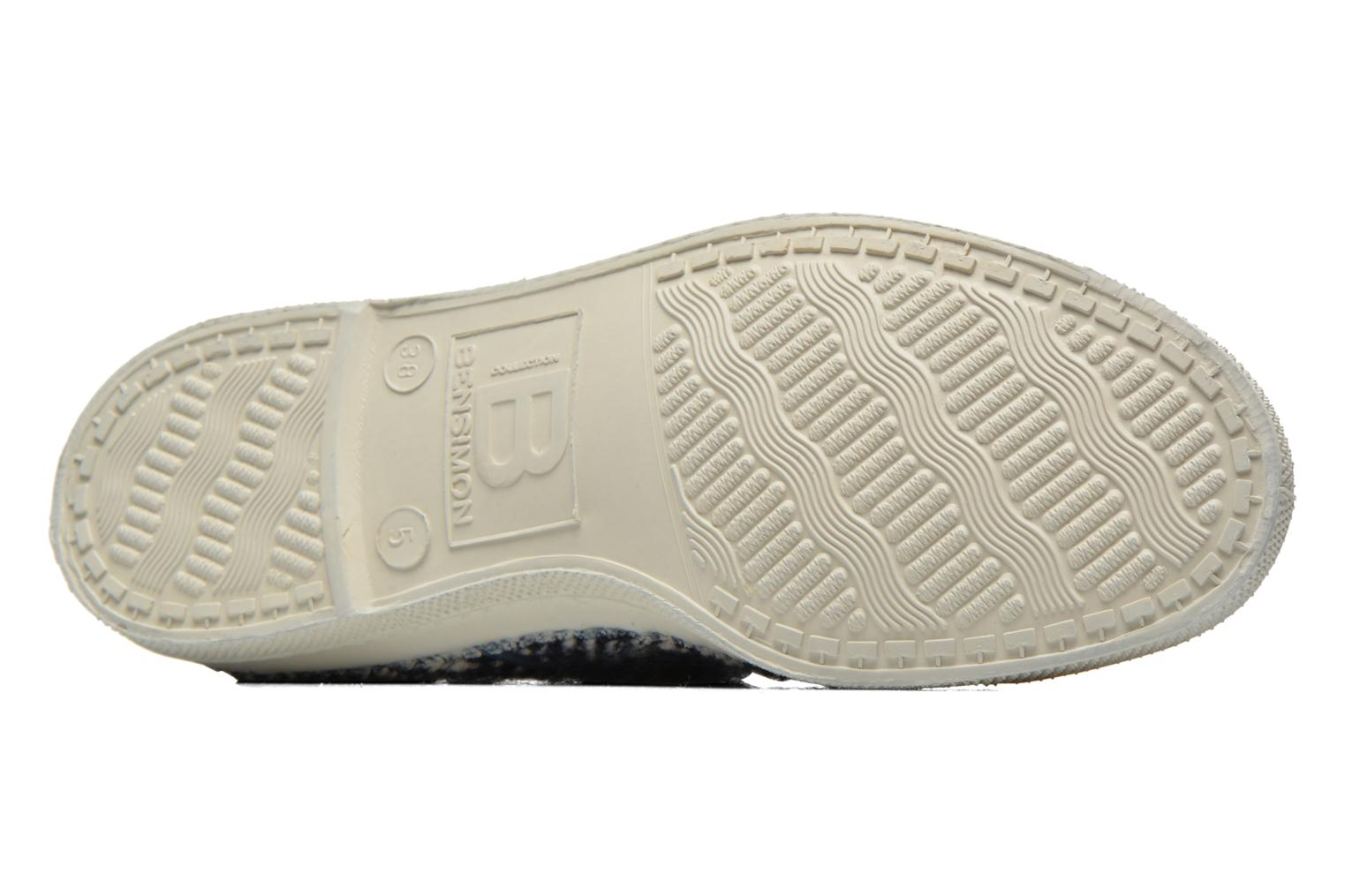 Trainers Bensimon Tennis Lacets Girly Tweed Blue view from above