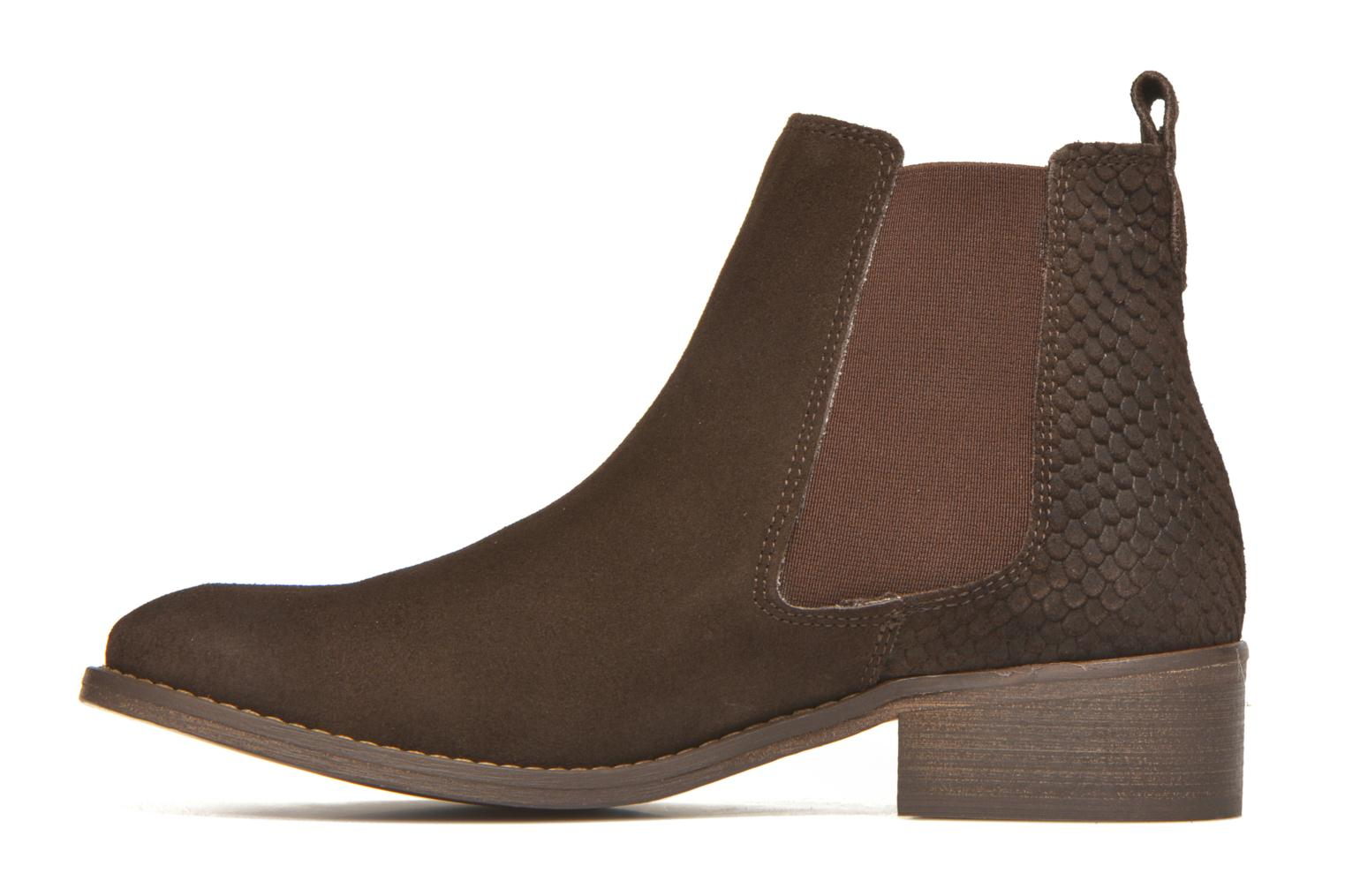 Ankle boots Bensimon Boots Elastiques Brown front view