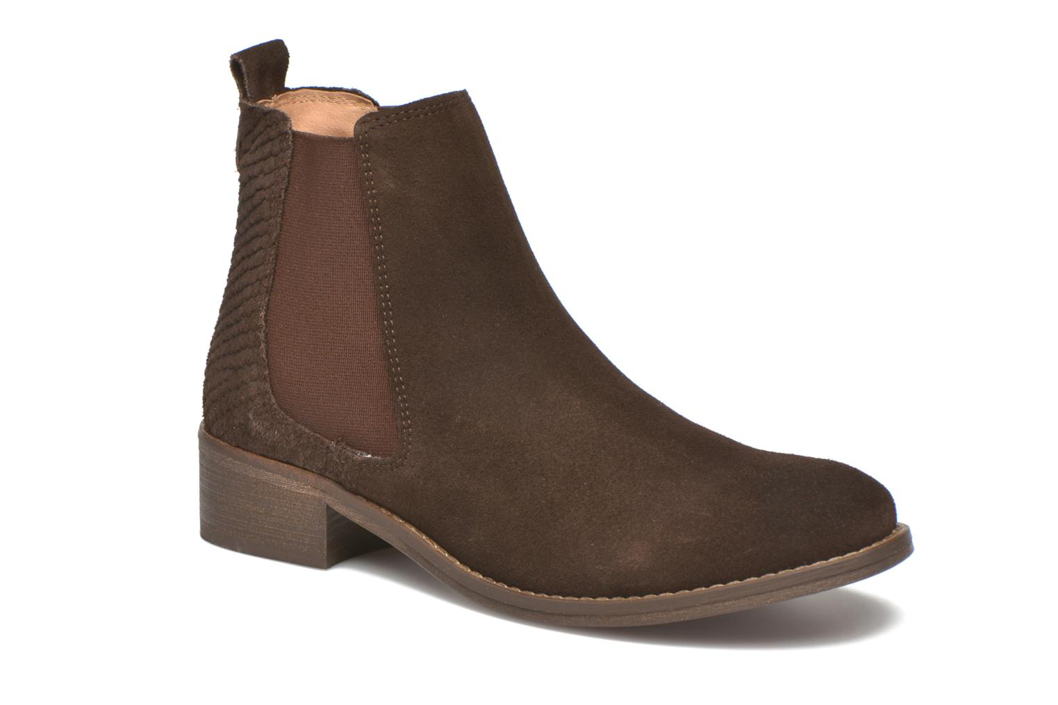 Ankle boots Bensimon Boots Elastiques Brown detailed view/ Pair view