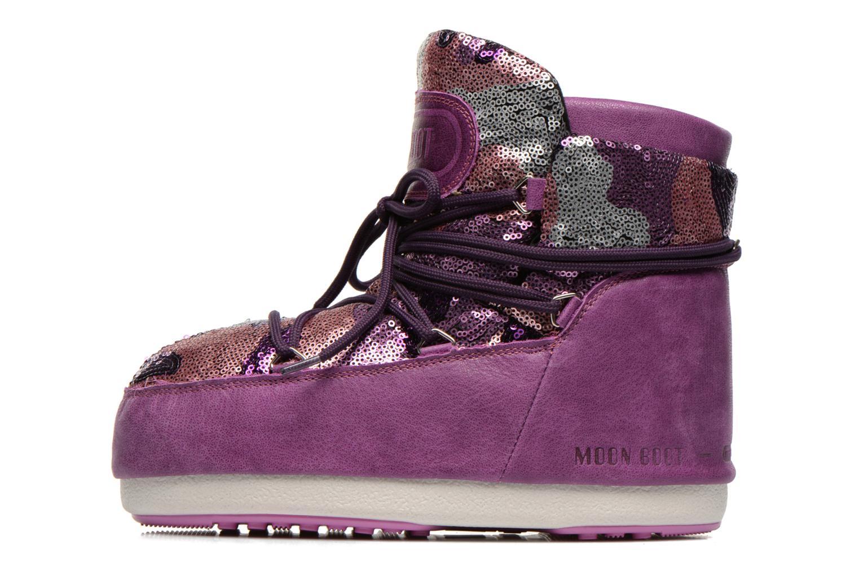 Stiefeletten & Boots Moon Boot Buzz Paillettes rosa ansicht von vorne