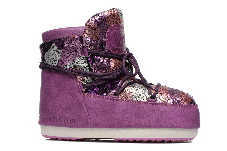 Stiefeletten & Boots Moon Boot Buzz Paillettes rosa ansicht von hinten
