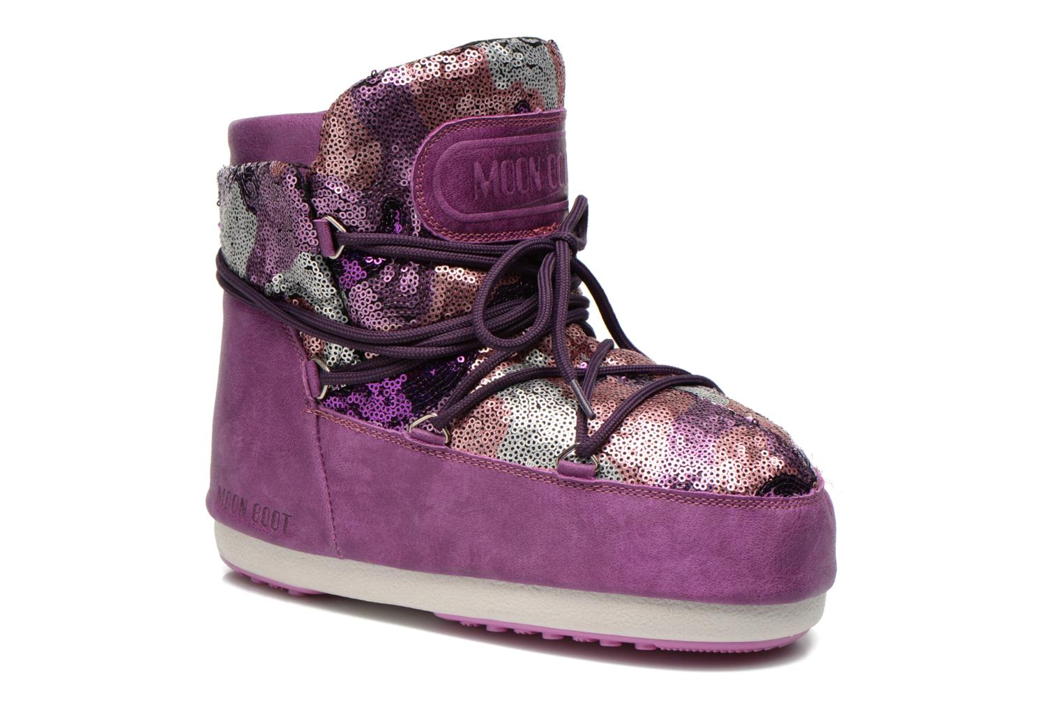 Ankle boots Moon Boot Buzz Paillettes Pink detailed view/ Pair view