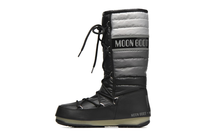 Botines  Moon Boot Quilted Negro vista de frente