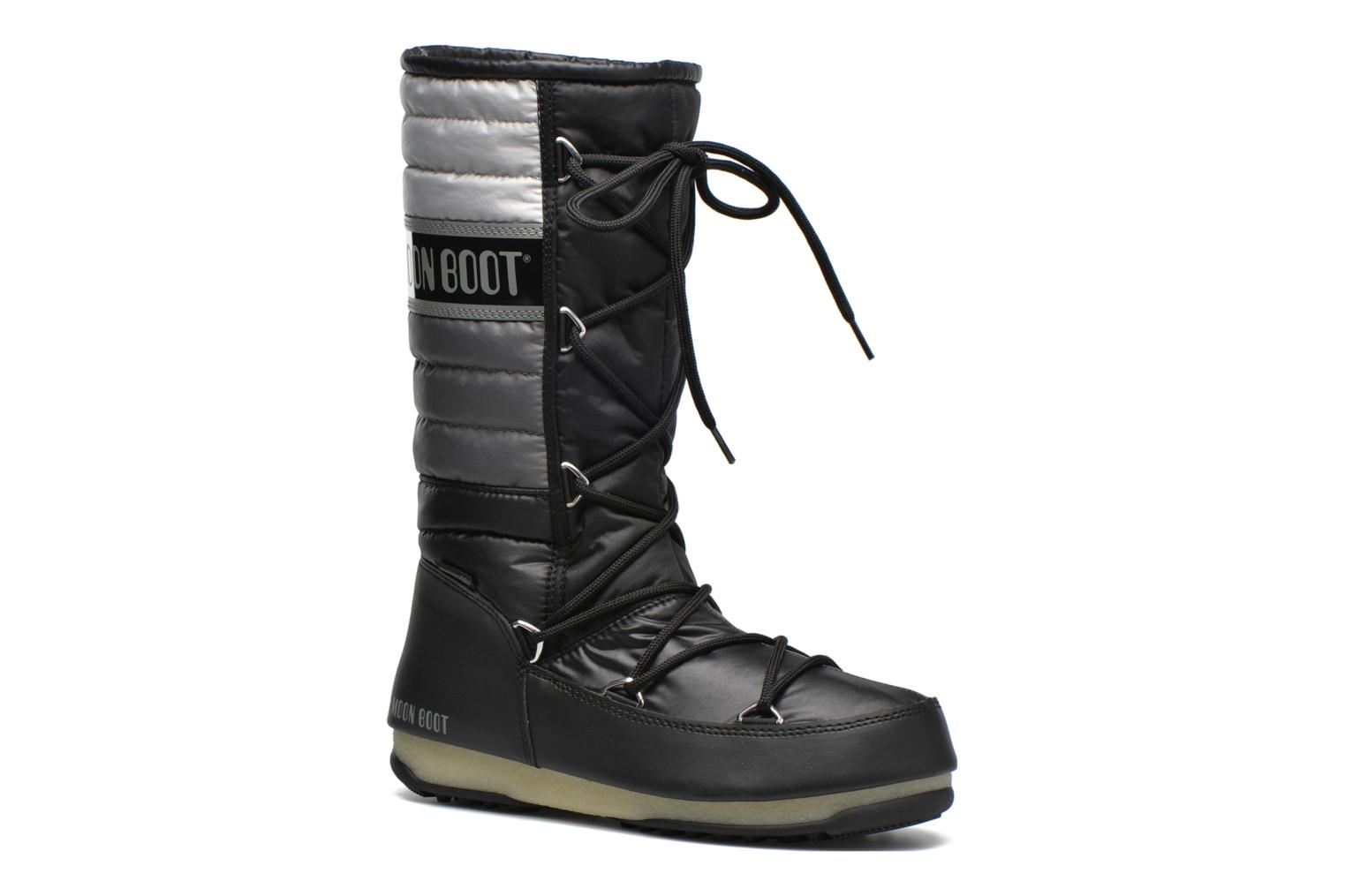 Ankle boots Moon Boot We Quilted Black detailed view/ Pair view