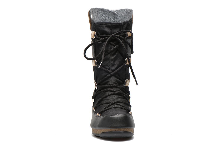 Stiefeletten & Boots Moon Boot Monaco Felt schwarz schuhe getragen