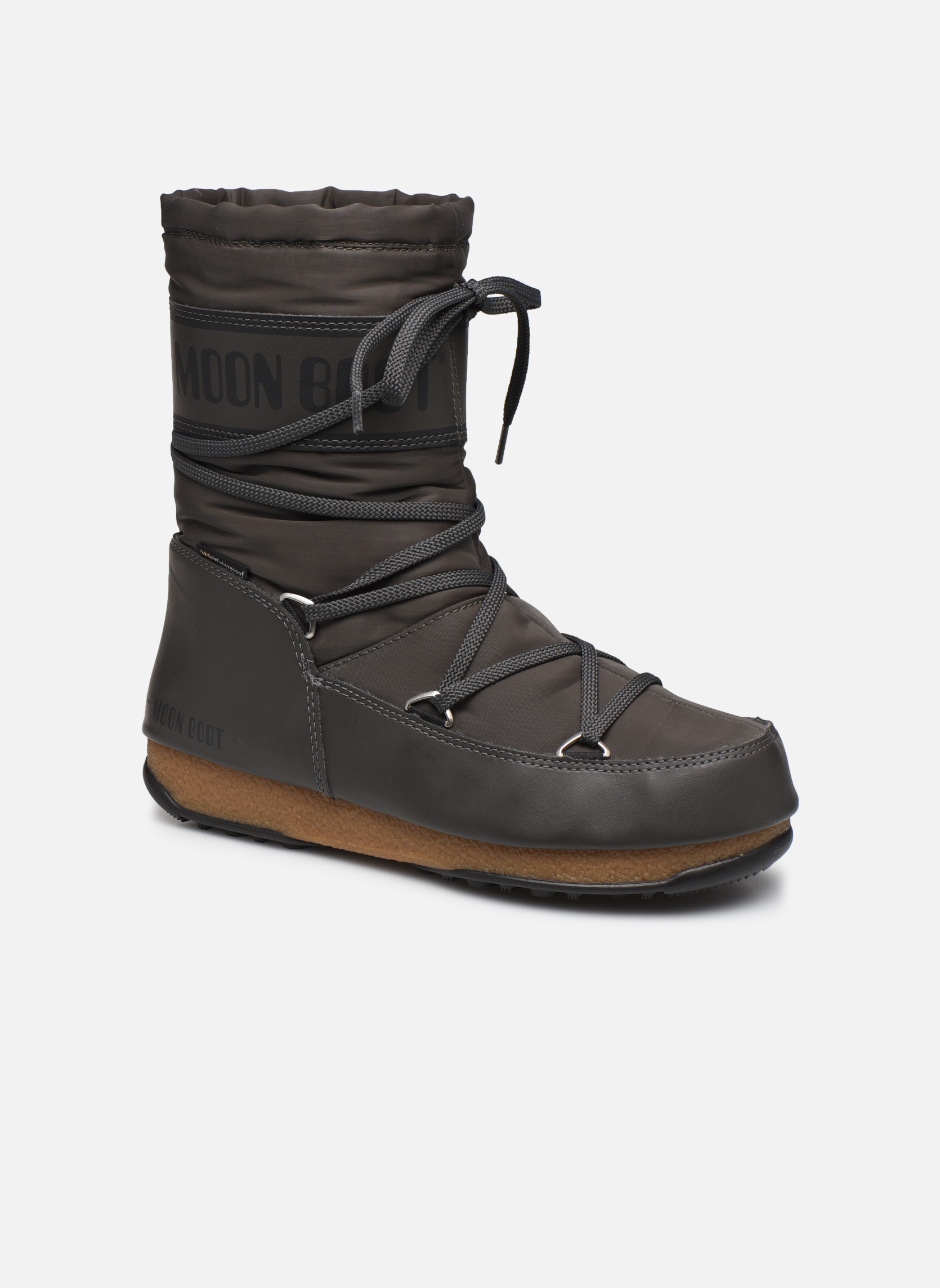 Sport shoes Moon Boot We Soft Shade Mid Grey detailed view/ Pair view