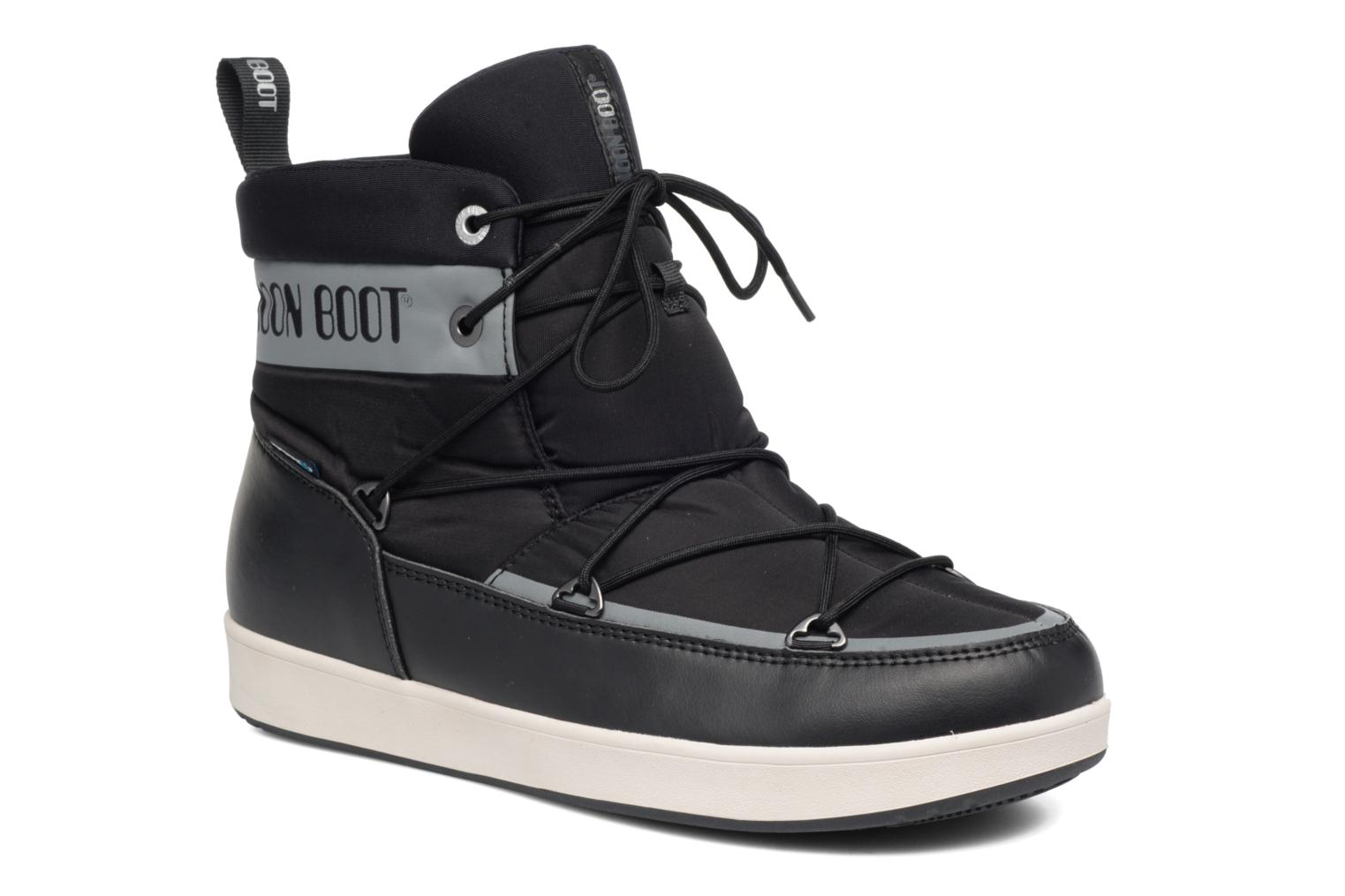 Sport shoes Moon Boot Neil Black detailed view/ Pair view
