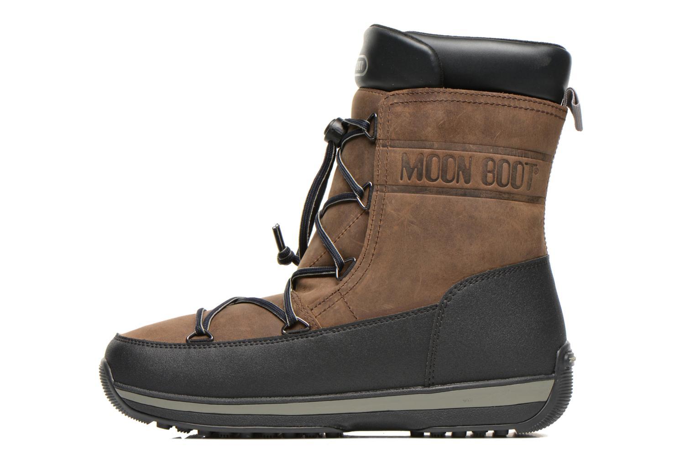 Zapatillas de deporte Moon Boot Lem Lea Marrón vista de frente