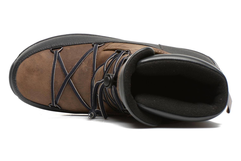 Zapatillas de deporte Moon Boot Lem Lea Marrón vista lateral izquierda