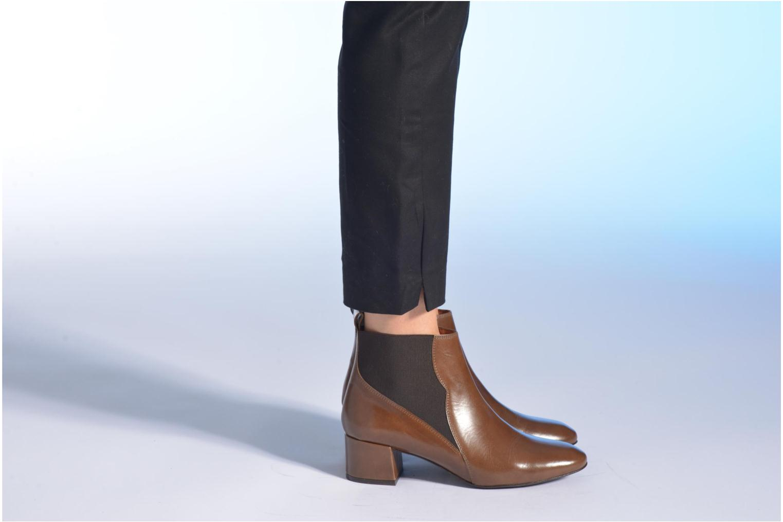 Bottines et boots Made by SARENZA Smoking Simone #7 Marron vue bas / vue portée sac