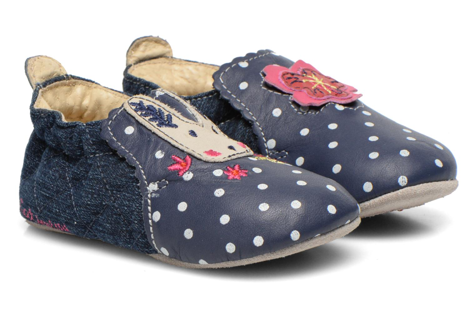 Slippers Catimini Coudou Blue detailed view/ Pair view