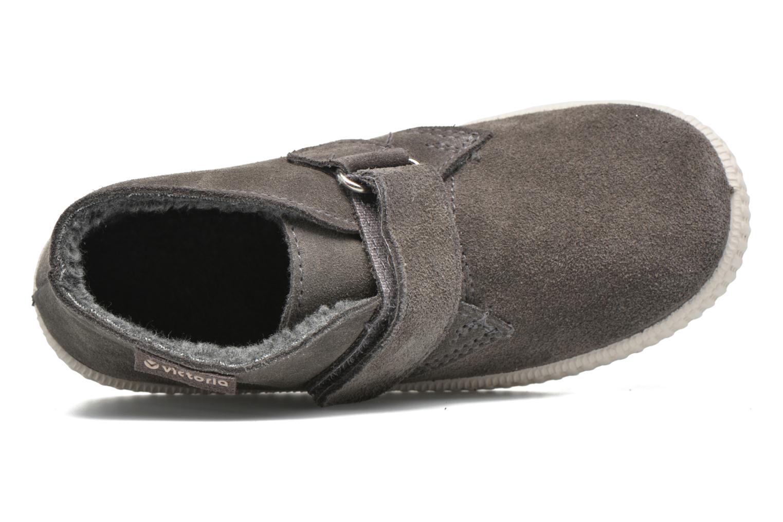 mit Klettverschluss Victoria Safari Serraje Velcro grau ansicht von links